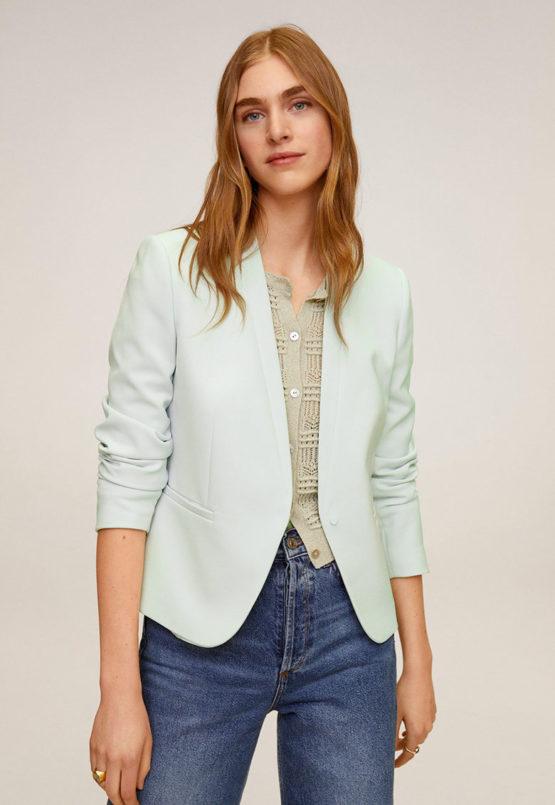 Mango 67934406 Leli satin lapel jacket size XL