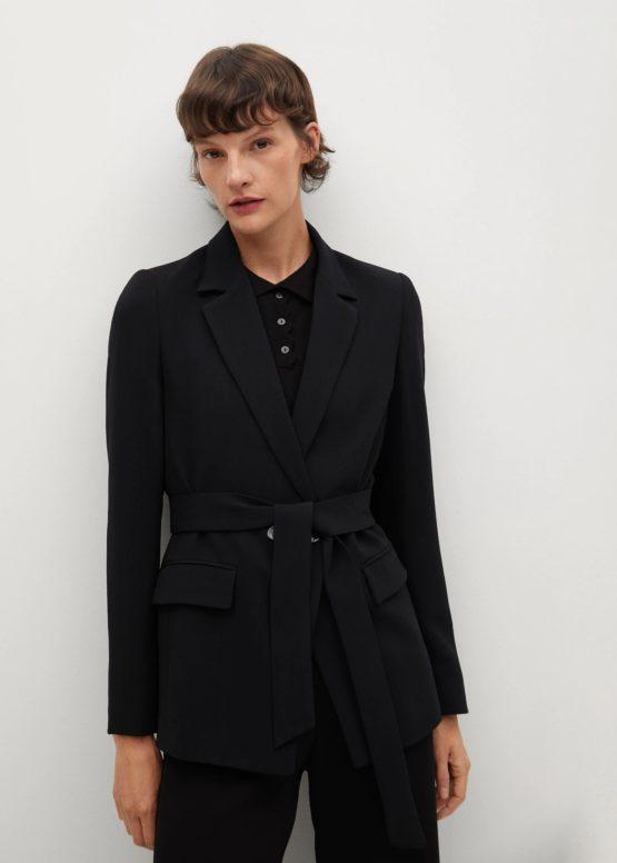 Mango 87064019 Crepe suit jacket with belt size S