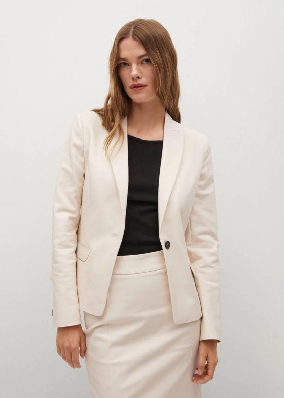 Mango 17080145 Structured suit blazer size 34, 36 Beige