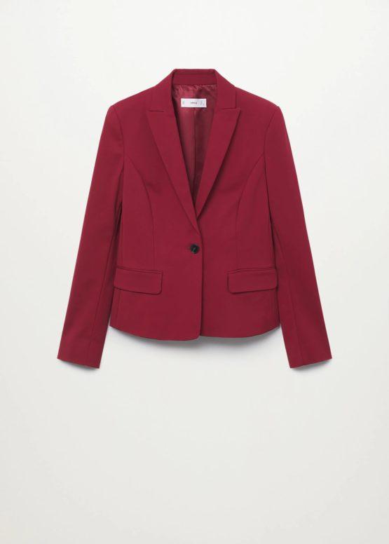 Mango 17080145 Structured suit blazer size S Maroon