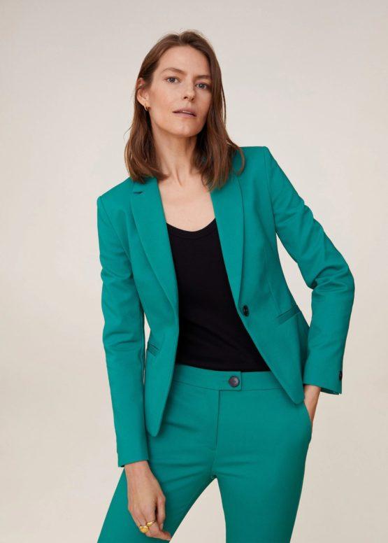 Mango 67910001 Essential structured blazer green size 34EU