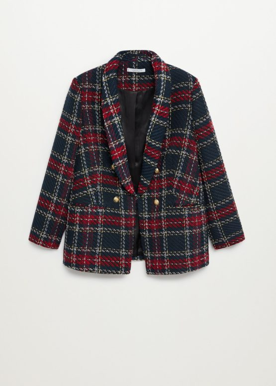 Mango 77009403 Buttons tweed blazer size M