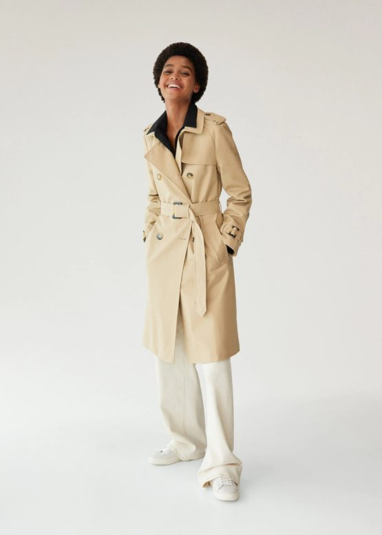 Mango 77092507 Double breasted trench size L