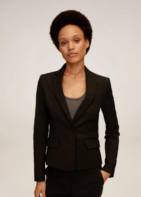 Mango 77092888 Structured suit blazer Black size 38(EU)