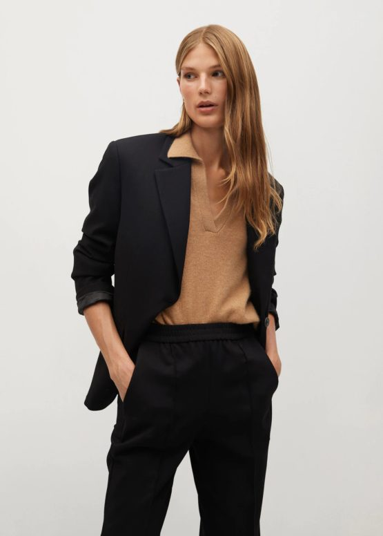 Mango 77097883 Structured suit blazer size XS