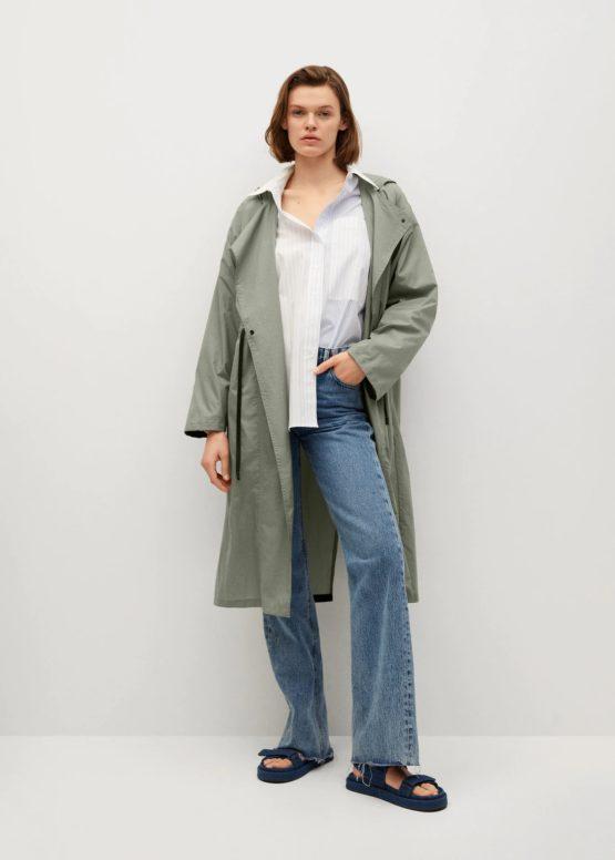 Áo khoác chống thấm Mango 87065674 Foldaway water-repellent raincoat size XS/S
