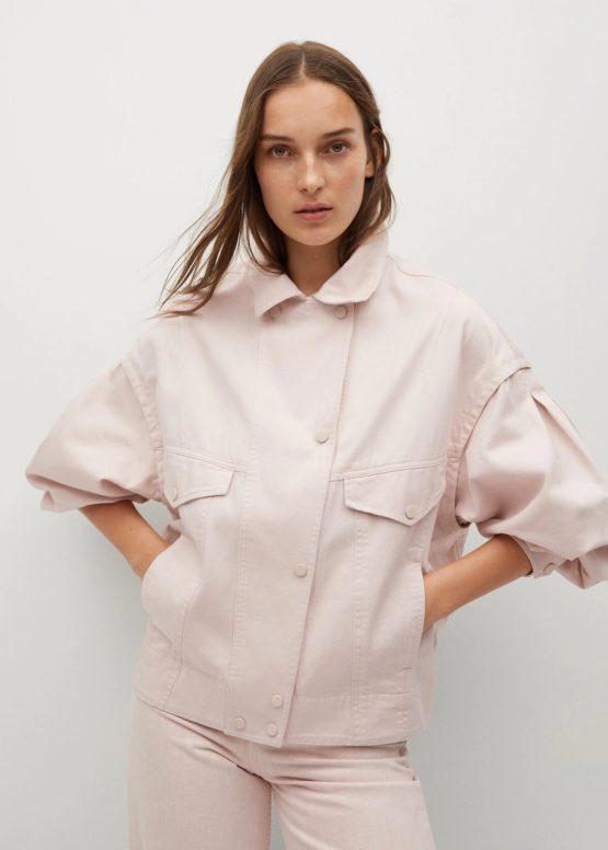 Mango 87087135 Oversized cotton jacket size XS